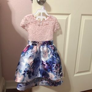 Toddler girl 2T pink floral dress